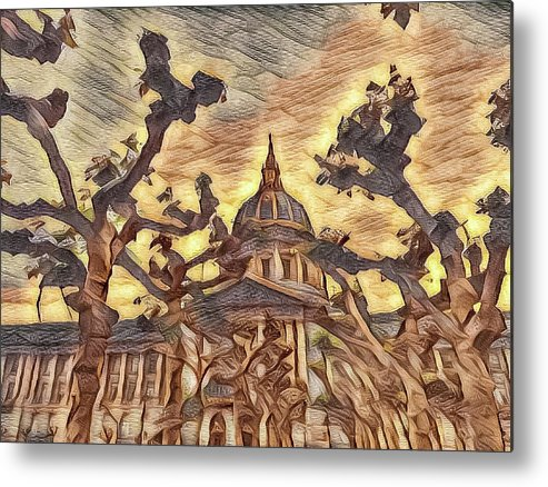 Abstract Metal Print featuring the photograph City Hall by Jonathan Nguyen