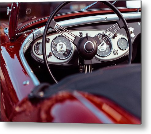 Classic Metal Print featuring the photograph Classic Ford Convertible Interior by Billy Soden