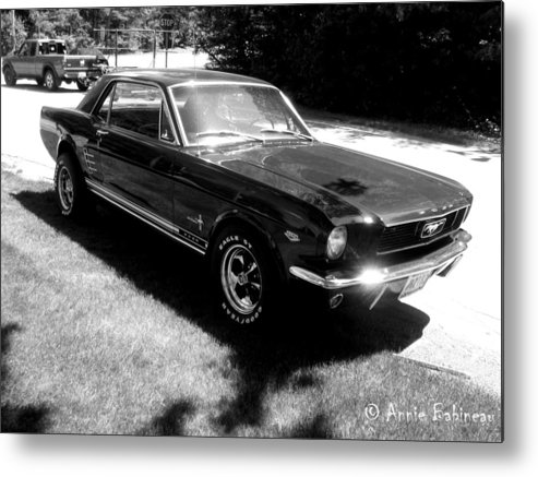 Classic Metal Print featuring the photograph classic Mustang by Annie Babineau