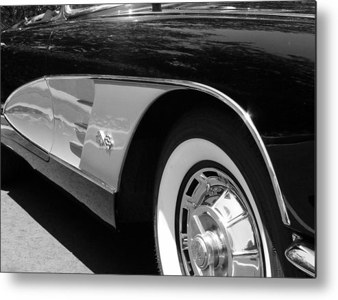 Corvette Metal Print featuring the photograph Classic Vette by Jeff Lowe