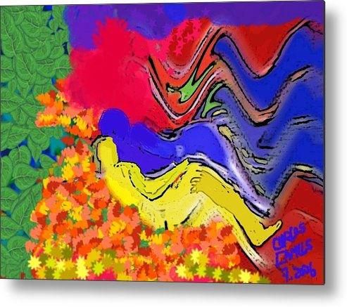 Arte Metal Print featuring the painting Climax by Carlos Camus