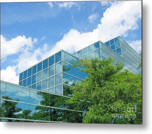 Architecture Metal Print featuring the photograph Climbing Skyward by Ann Horn