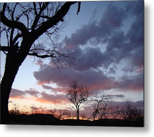 Sunset Metal Print featuring the photograph Cloudy Sunset One by Ana Villaronga
