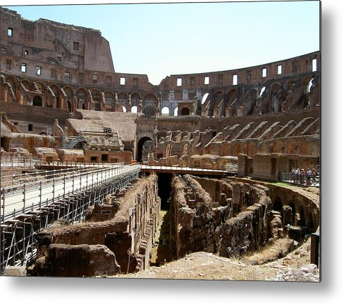 Rome Metal Print featuring the photograph Coliseum 2 by Blima Efraim