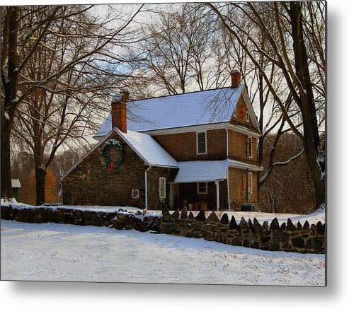 Old Metal Print featuring the photograph Colonial Christmas by Gordon Beck