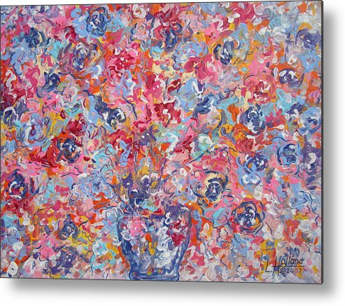 Flowers Metal Print featuring the painting Colorful Floral Bouquet. by Leonard Holland