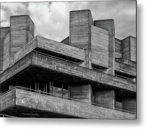 Brutalist Metal Print featuring the photograph Concrete - National Theatre - London by Philip Openshaw