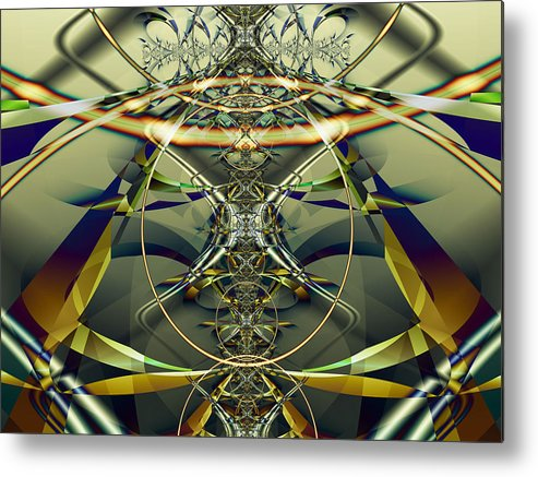 Fractal Metal Print featuring the digital art Construction Rings by Frederic Durville