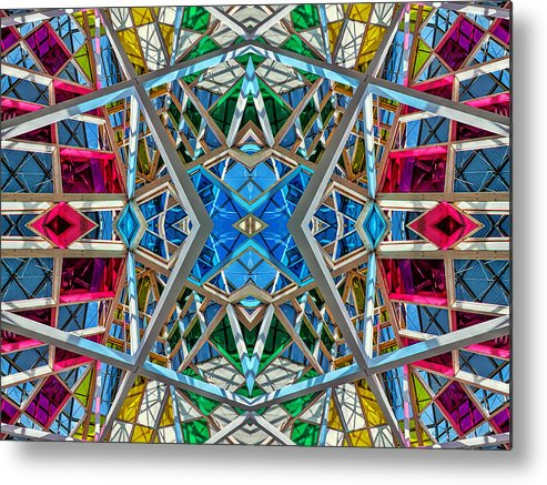 Abstract Metal Print featuring the photograph Constructurropolis by Nenad Cerovic