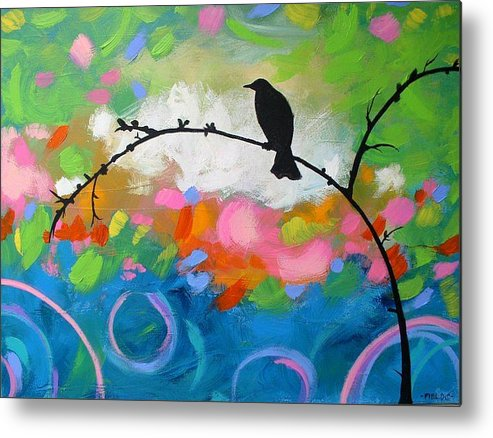 Metal Print featuring the painting Contemplation by Karen Fields