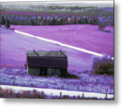 Barn Metal Print featuring the mixed media Country Life by Scarlet Sima