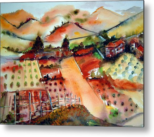 Metal Print featuring the painting Countryside by Cheryl Ehlers