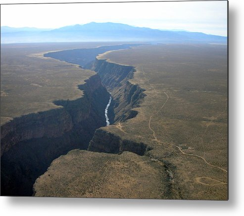 Landscape Metal Print featuring the photograph Crack In The Earth by Irina ArchAngelSkaya