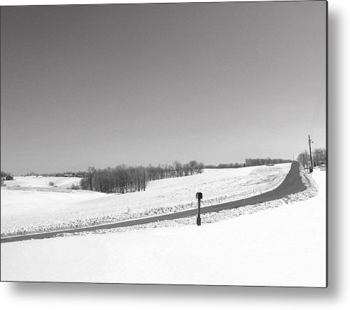 Country Metal Print featuring the photograph Craig Hill Rd by Martie DAndrea