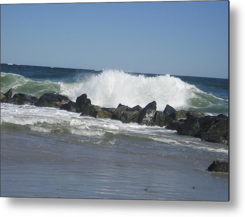 Waves Metal Print featuring the photograph Crashing Waves by Donna Davis