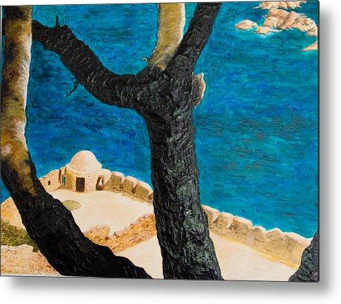 Greece Metal Print featuring the painting Crete Island by Julia Collard