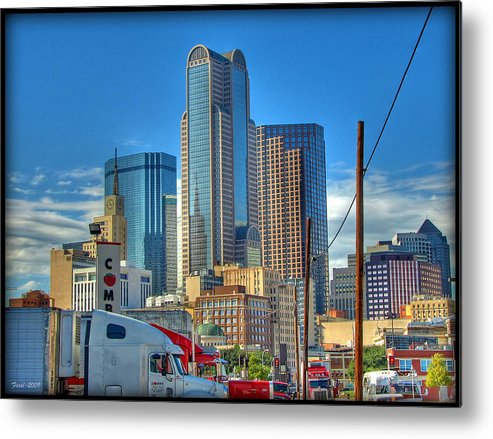 Dallas Metal Print featuring the photograph Dallas Morning Skyline by Farol Tomson