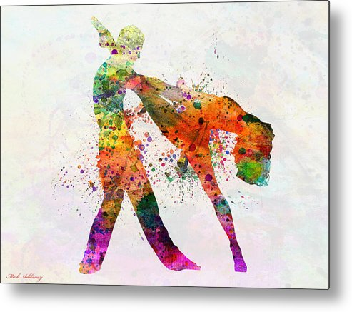 Metal Print featuring the painting Dancing Queen 3 by Mark Ashkenazi