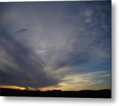 Dark Metal Print featuring the photograph Dark Sunset Four by Ana Villaronga