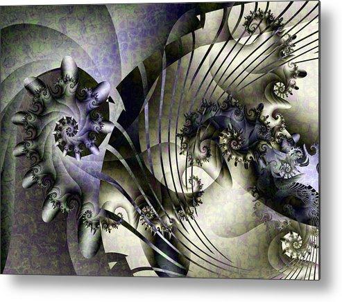 Fractal Metal Print featuring the digital art David's Lyre by David April