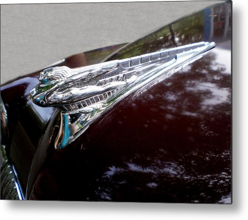 Cars Metal Print featuring the photograph Deco Desoto by Jan Amiss Photography