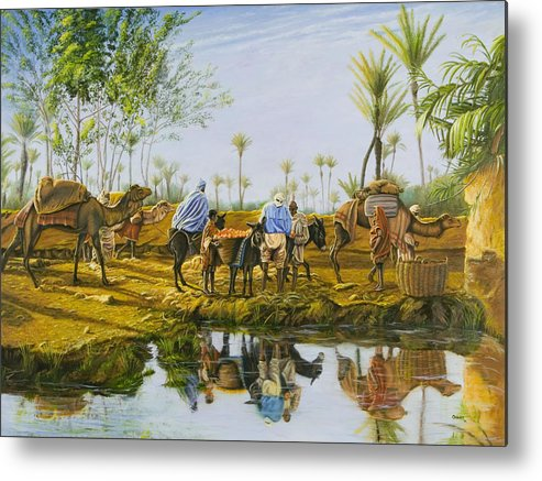 Desert Metal Print featuring the painting Desert Gold by Christopher Oakley