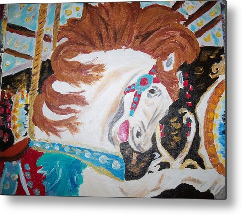 Horse Metal Print featuring the pastel Despina by Danielle Dutil