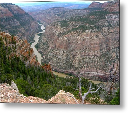 Dinosaur National Monument Colorado Mountains Canyon River Nature Metal Print featuring the photograph Dinosaur National Monument by George Tuffy