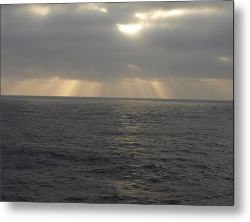 Clouds Metal Print featuring the photograph Divine Light by Laura Allenby