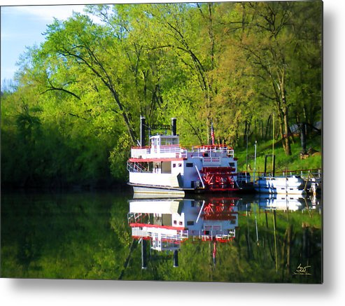 Shaker Metal Print featuring the photograph Dixie Belle River Boat by Sam Davis Johnson