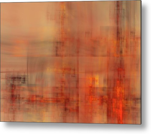 Fractal Metal Print featuring the digital art Docklands Sunset by Ian Duncan Anderson