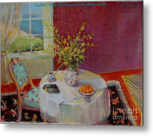 Interior Metal Print featuring the painting Dorothy S View  Copyrighted by Kathleen Hoekstra