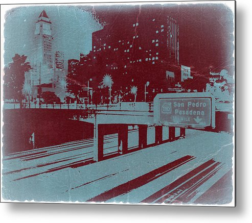 Metal Print featuring the photograph Downtown La by Naxart Studio