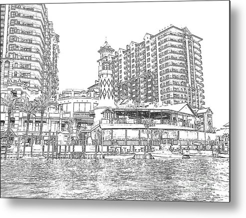 Drawing Metal Print featuring the photograph Drawing The Harbor by Michelle Powell