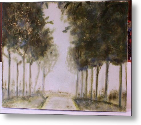 Landscape Metal Print featuring the painting Dreamy Walk by Karla Phlypo-Price