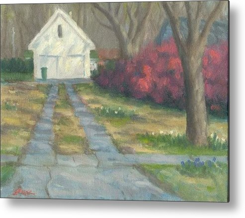 Landscape Metal Print featuring the painting Driveway by Michael Gillespie