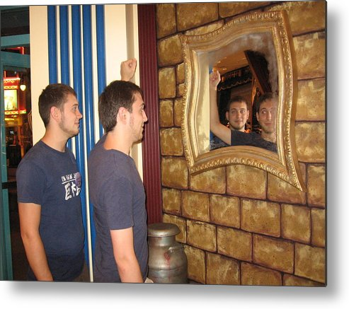 Twins Metal Print featuring the photograph Duplicity by Sandra Winiasz