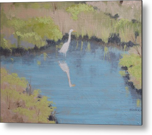 Pond Metal Print featuring the painting Early Spring by Robert Rohrich