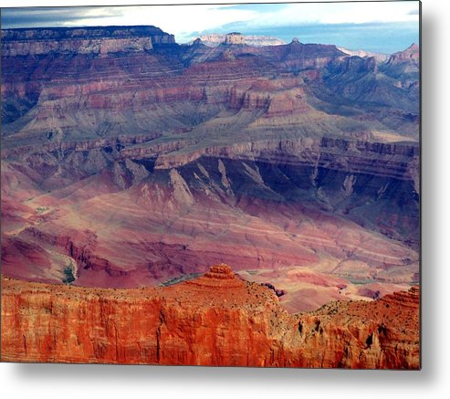 Grand Canyon National Park Metal Print featuring the photograph East Rim View by Carrie Putz