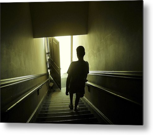 Child Metal Print featuring the photograph Eerie Stairwell by Scott Hovind