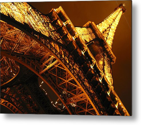 Eiffel Metal Print featuring the photograph Eiffel Tower Paris France by Gene Sizemore