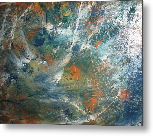Non Duality Metal Print featuring the painting Emotional Deluge by Paula Andrea Pyle