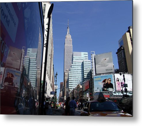 Springtime Metal Print featuring the photograph Empire State Of Mind In The Late Springtime by Di Designs