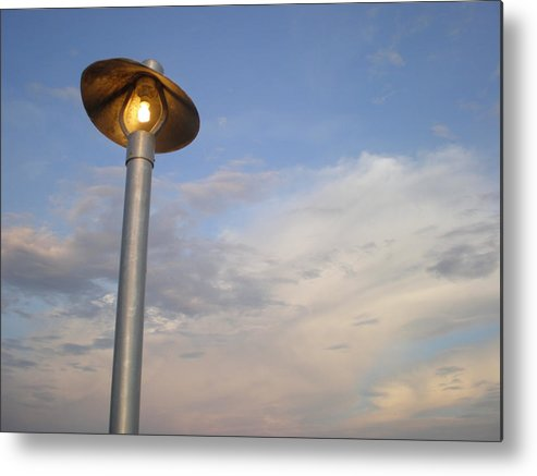 Light Metal Print featuring the photograph Evening Glow by Jeffrey Zipay