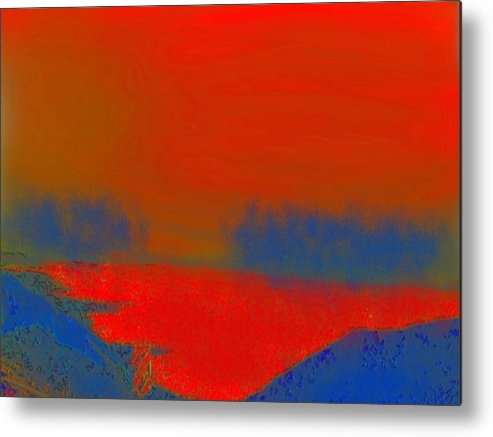 Sunset Metal Print featuring the digital art Evening Way To Dead Sea.fire Sunset by Dr Loifer Vladimir
