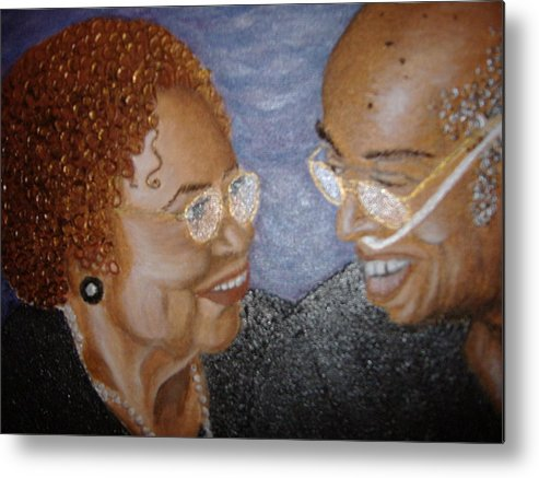 Acrylic Metal Print featuring the painting Everlasting Love by Keenya Woods