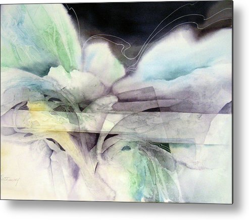 Abstract Watercolor Metal Print featuring the painting Excursion by Shirley Hathaway