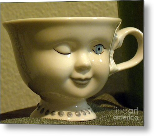 Tea Cup Metal Print featuring the photograph Eye Tea Cup 1 by Janet Dickinson