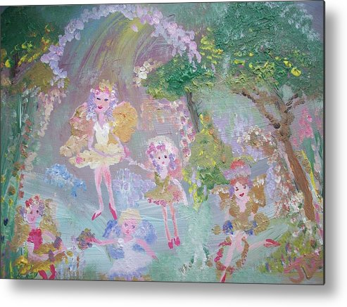 Archway Metal Print featuring the painting Fairy Archway by Judith Desrosiers