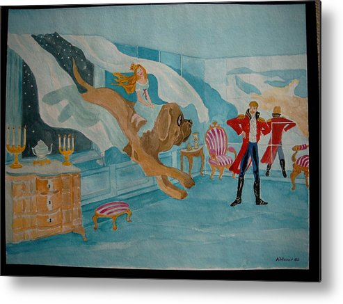 Metal Print featuring the painting fairy tale H.C. Andersen by Antje Wieser